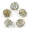 Lamp Bead Seashell 5Pc 22x18mm Pastel Green